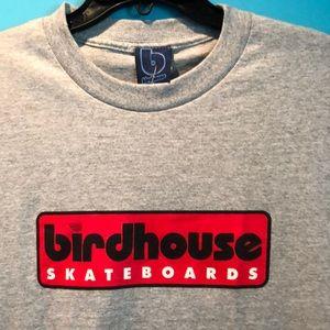 Mens vintage Birdhouse skateboard Tshirt
